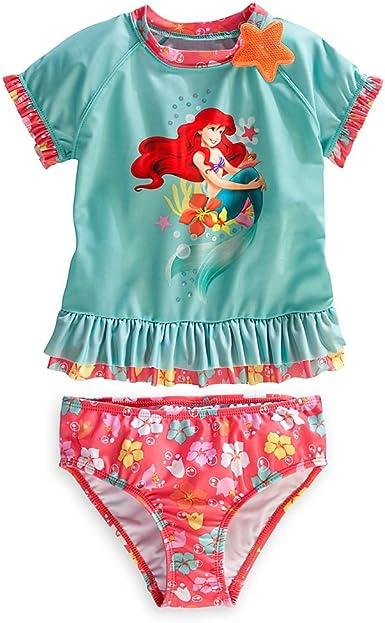 NWT Disney Princess Ariel Mermaid Top Shirt Tee 4 7 Long Slv Aqua In Gift Box