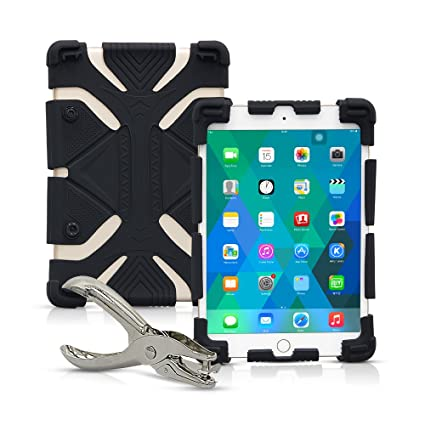 08689fa50444 Amazon.com: Universal 8 inch Tablet Case, Shockproof Silicone ...