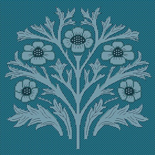 Inspired William Morris (Goldleaf Needlework Cross Stitch Kit - KL4 Acorn (Large) Inspired by William Morris Wallpaper by Goldleaf Needlework)