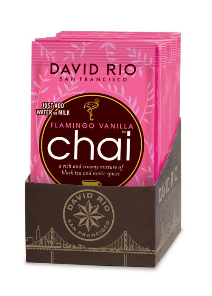 David Rio Decaf Sugar Free Chai Tea Single Serve Packets, Flamingo Vanilla, 48 Count by David Rio