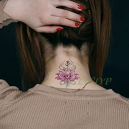 ljmljm 5 Piezas Impermeable Tatuaje Pegatina Rojo Marinero Luna ...