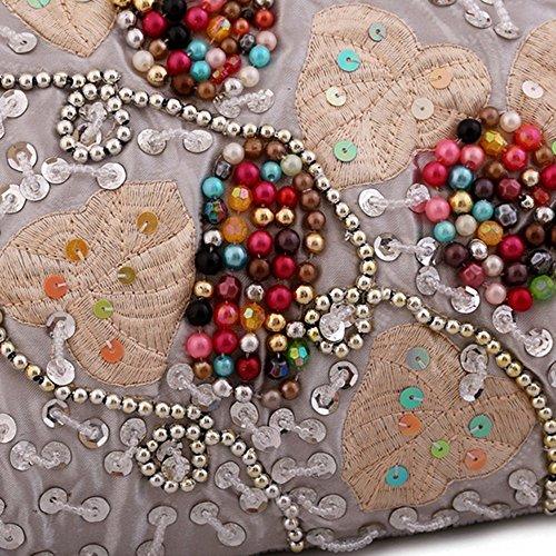 Eysee - Bolso de tela para mujer plateado plata 34cm*25cm*3cm gris