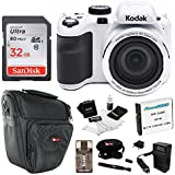 Kodak PIXPRO Astro Zoom AZ421 16 MP Digital Camera with 42X Optical Zoom and 3 LCD Screen (White) 32GB Bundle