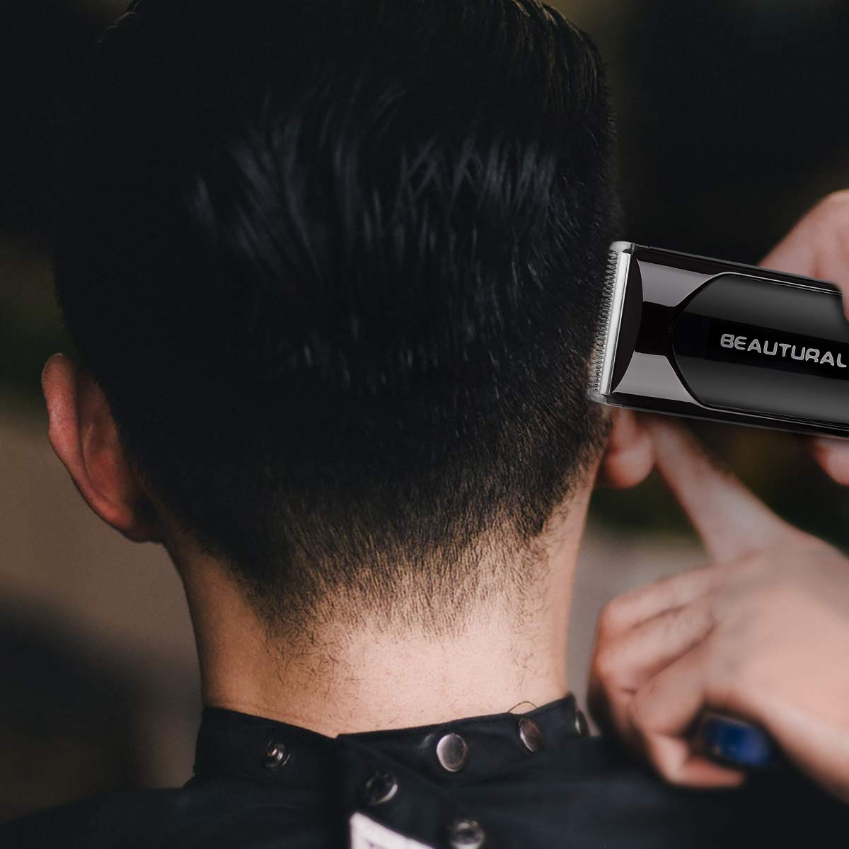 Beautural Professional Cordless Hair Clippers, Heavy Duty Rechargeable Hair Trimmer and Hair Cutting Kit with Charging Base, 6 Guide Combs, and Comb by Beautural (Image #4)