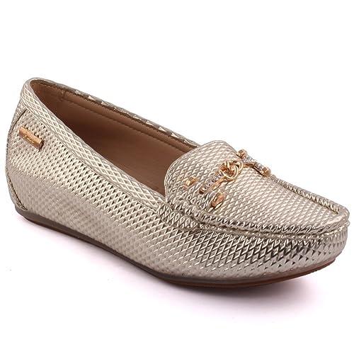 Unze Las Mujeres Tobah Decoradas Invierno Slip-ons Mocasines zapatosReino Unido ...