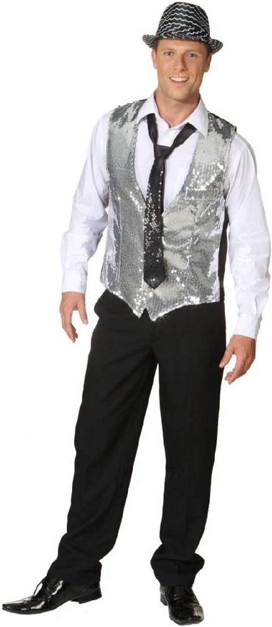 Silberne lentejuelas chaleco para hombre