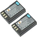 DSTE 2-Pack Rechange Batterie pour Nikon EN-EL9 EN-EL9A D40 D40x D60 D3000 D5000