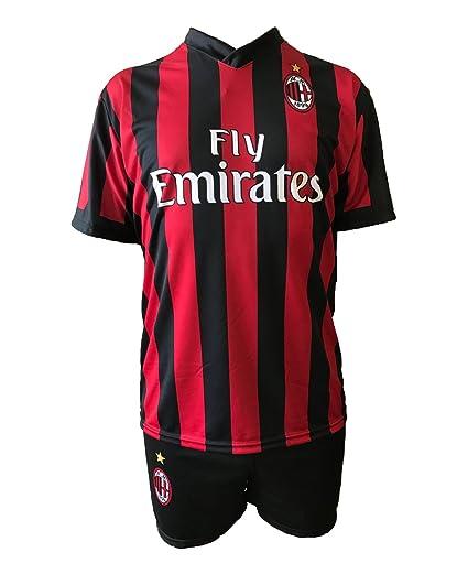 Conjunto Equipacion Camiseta Jersey Futbol Milan Bonucci: Amazon.es: Deportes y aire libre