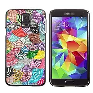 FECELL CITY // Duro Aluminio Pegatina PC Caso decorativo Funda Carcasa de Protección para Samsung Galaxy S5 SM-G900 // Beret Colorful Art Diy