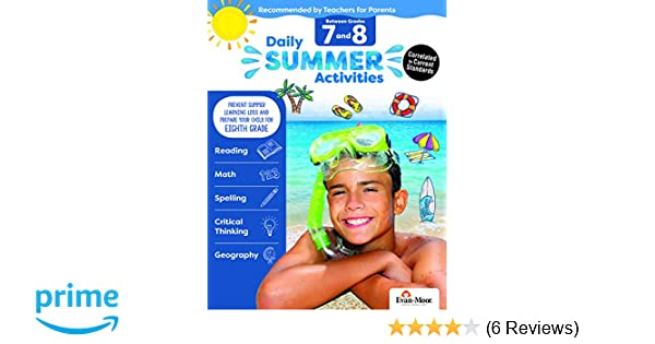Evan-Moor Daily Summer Activities, Between 7th Grade and 8th