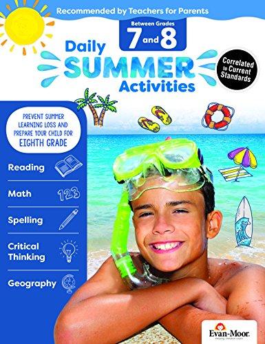 Evan-Moor Daily Summer Activities, Between 7th Grade and 8th Grade Activity Book; Summer Learning Workbook ()