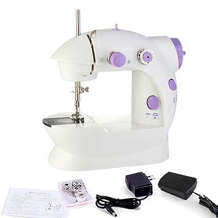 anten® Portable Mini Punto de máquina de coser eléctrica hogar mano Velocidad de doble rosca