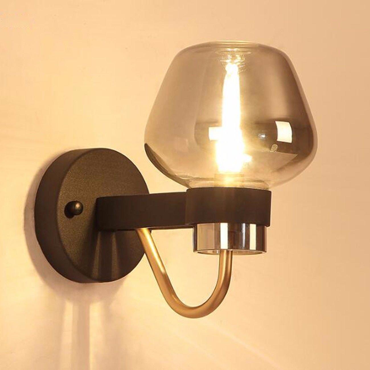 T-ZBDZ Wandlampe Wohnzimmer Schlafzimmer Wand Lampe Designer industrielle Wind magische Bohne moderne Nachttisch Wandlampe, A