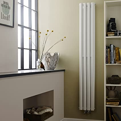Hudson Reed Alpha-C – Radiador de baño diseño vertical doble acero blanco – 1800