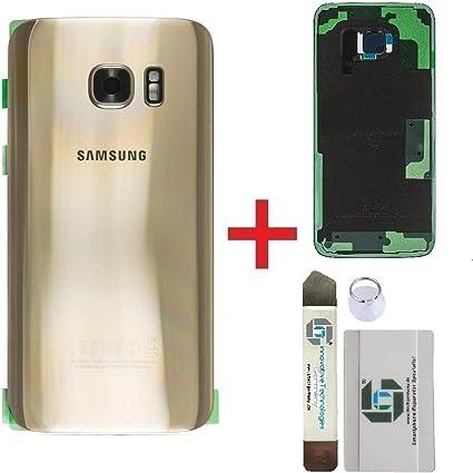 iTG® Premium Kit de Réparation de Couverture de Batterie pour Samsung Galaxy S7 EDGE Or (Gold Platinum) – Samsung Panneau Arrière d'origine pour ...