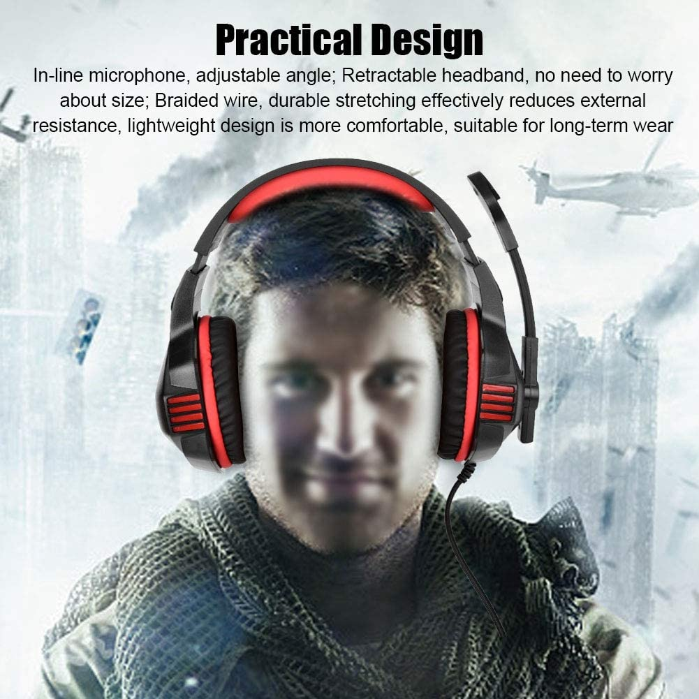 Ciglow Headset Gaming Wired Headset 3.5mm for Computer Game Gaming Player