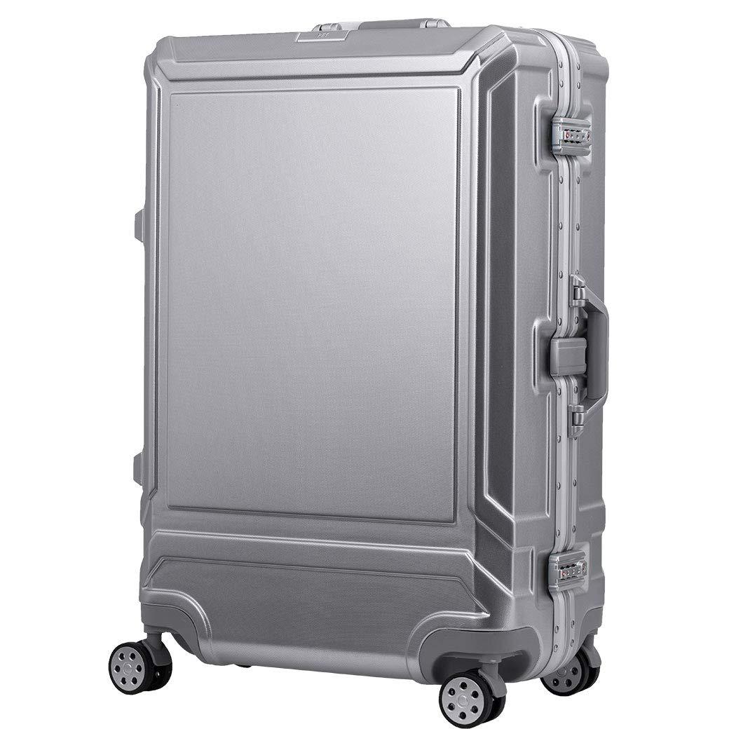 [アウトレット]スーツケース ケース キャリー フレームタイプ 機内持込み PET素材 軽量 ダイヤルロック ダブルキャスター シンプル ビジネス S サイズ レジェンドウォーカー ~目安 【B-5508-57】 シルバー   B07PPCD7SM