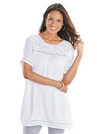 e794eb698746e9 AmeriMark Crinkle Gauze Tunic at Amazon Women's Clothing store: