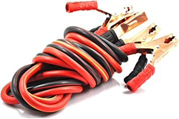 XINCOL Heavy Duty 1-Gauge Ultra 2500A 100/% Copper Wire Jumper Cable Booster C...