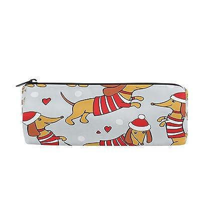 ZZKKO - Estuche con cremallera para lápices, diseño de perro ...