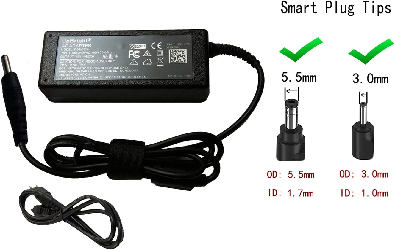 UpBright 19V 3.42A 65W AC/DC Adapter Compatible with Acer R11 Chromebook 14 15 N15Q9 N5Q9 N16P1 CB3-431 CB3-532 CB3-531 C720 S7-191 S7-392 C730 C730E C735 C810-T9CA C740-C4PE Aspire P3-171 Charger