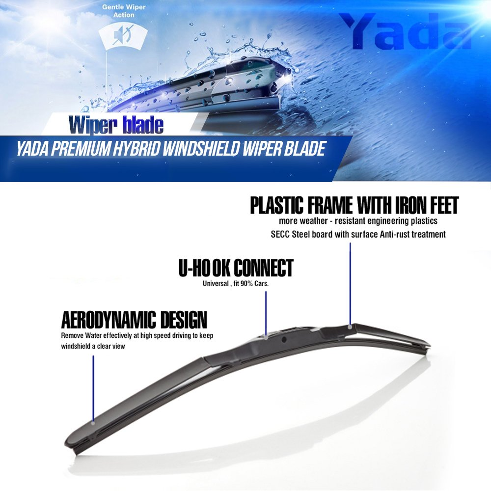 Amazon.com: Yada 16 inches 8-in-1 Water Repellency Wiper Blades, 16 ...