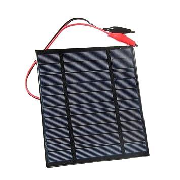 D DOLITY 2.5W 5V Cargador Panel Solar Placa Solar con Cable ...