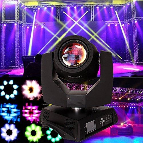 Ridgeyard 7R 230w Moving Head Zoom Light DMX 16CH Beam 8 Prism Wash Spot Gobo Light DJ Disco Club Party Wedding Stage Effect Lighting (1 PCS)