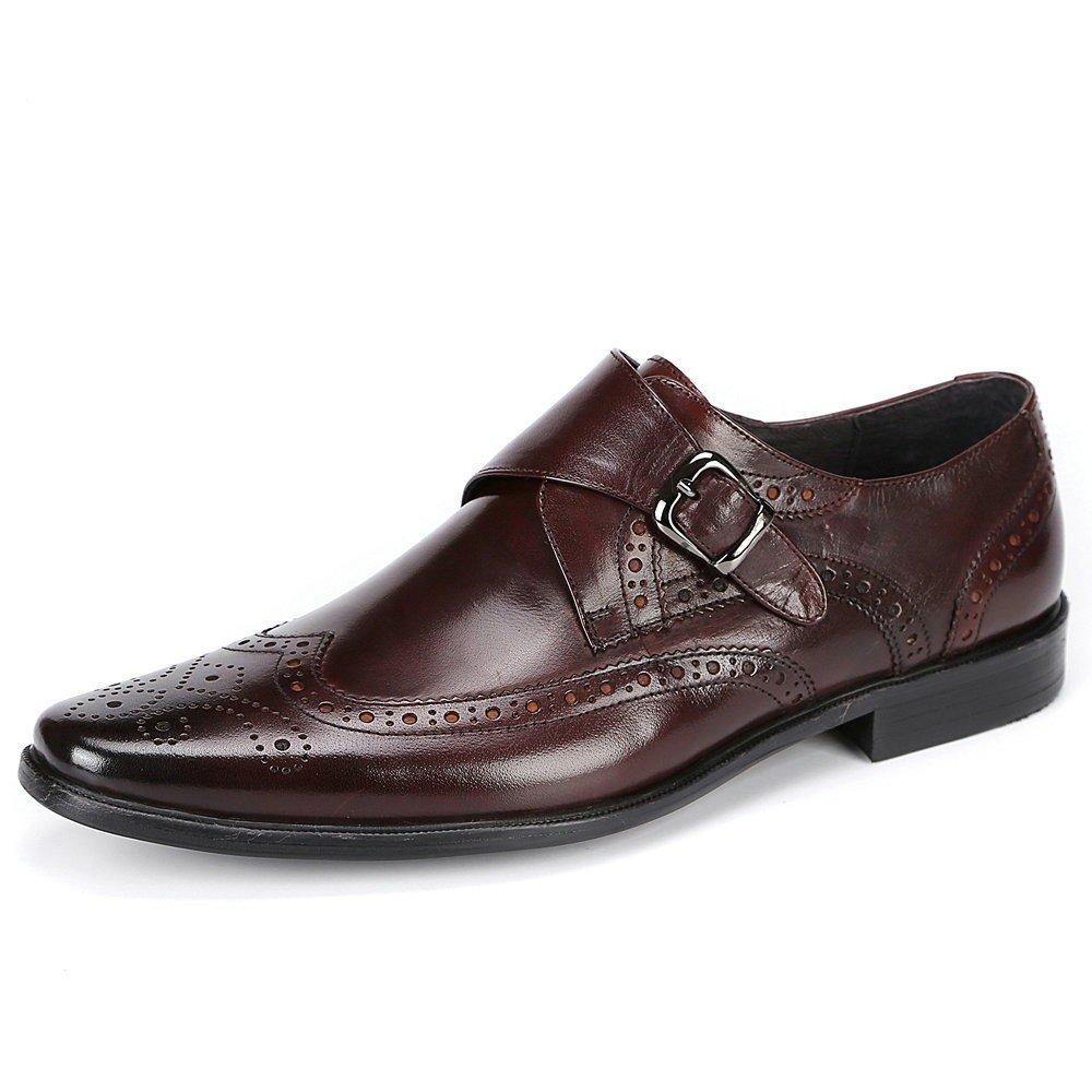 LHLWDGG.K Zapatos Para Hombres Vestidos Formales De Cuero Zapatos Para Bodas, Coffe, 7 7|Coffe