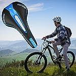 XLKJ-Sella-per-BiciBicicletta-Sellino-in-Gel-Adatto-per-Mountain-Bike-da-Corsa-Blu