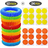 WAOU 10 Pack Bracelets,Protection for Kids,Adults & Pets,for Travel Outdoor Sports,100% Natural Safe Wristband with Resealable Bag