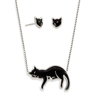 SIAMESE CAT Charm Egyptian cat Pendant Solid 925 STERLING SILVER 3D