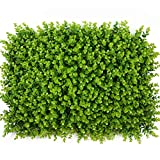ONXO Artificial Topiary Hedge Plant Greenery Panels Suitable for Both Outdoor or Indoor, Garden or Backyard and Home Decorations (Light Green Boxwood,16x24inch,1PC Sample)