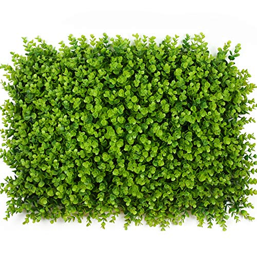 ONXO Artificial Topiary Hedge Plant Greenery Panels Suitable for Both Outdoor or Indoor, Garden or Backyard and Home Decorations(Light Green Boxwood,16x24inch,1PC Sample) by ONXO