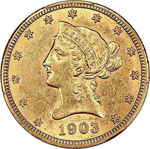 1903 O $10 Liberty Gold Ten Dollar 98 PCGS ()