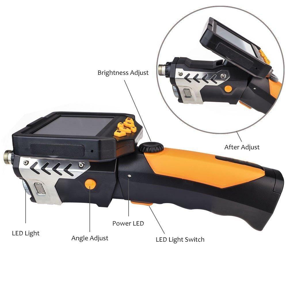 Slim 5.5mm Dia.//3M Tube Shekar 3.5 Inch Color LCD Monitor Endoscope Borescope Waterproof Inspection Snake Camera