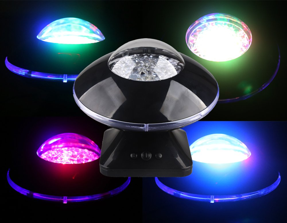 DTS-ES Led UFO Colorful Dream Light, Stars and Moon Projection Effect, with Music Player, USB Power Supply Or Dry Cell, Christmas New Year Gift,Used for Bedroom Lighting Or Children Bedroom Adornment