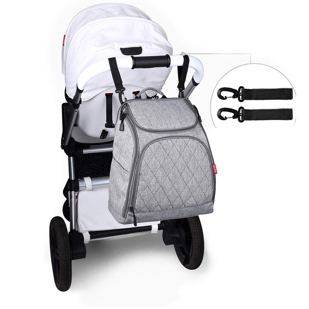Stroller Organizer Stroller Organizer Bag Diaper Bag Waterproof Travel Backpack for Carrying Bottles, Diapers,Clothing, Toys & Snacks Etc 3 Colors Parents Stroller Organizer Bag by DHUYUN (Image #7)