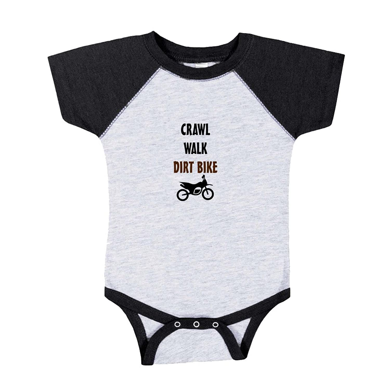 Amazon Crawl Walk Play Dirt Bike Baby Baseball Raglan Bodysuit