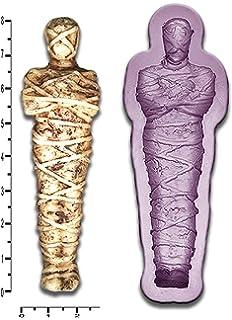 Egipcio Mummy Craft Fondant Jabón Fimo molde de resina de cera de jabón