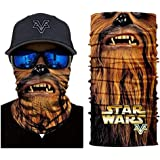 3D Chewbacca Face Tube Neck Face Scarf Lower Half Face Mask Motorcycle Bicycle Shield Sun Air Soft Outdoor Biker Riding…