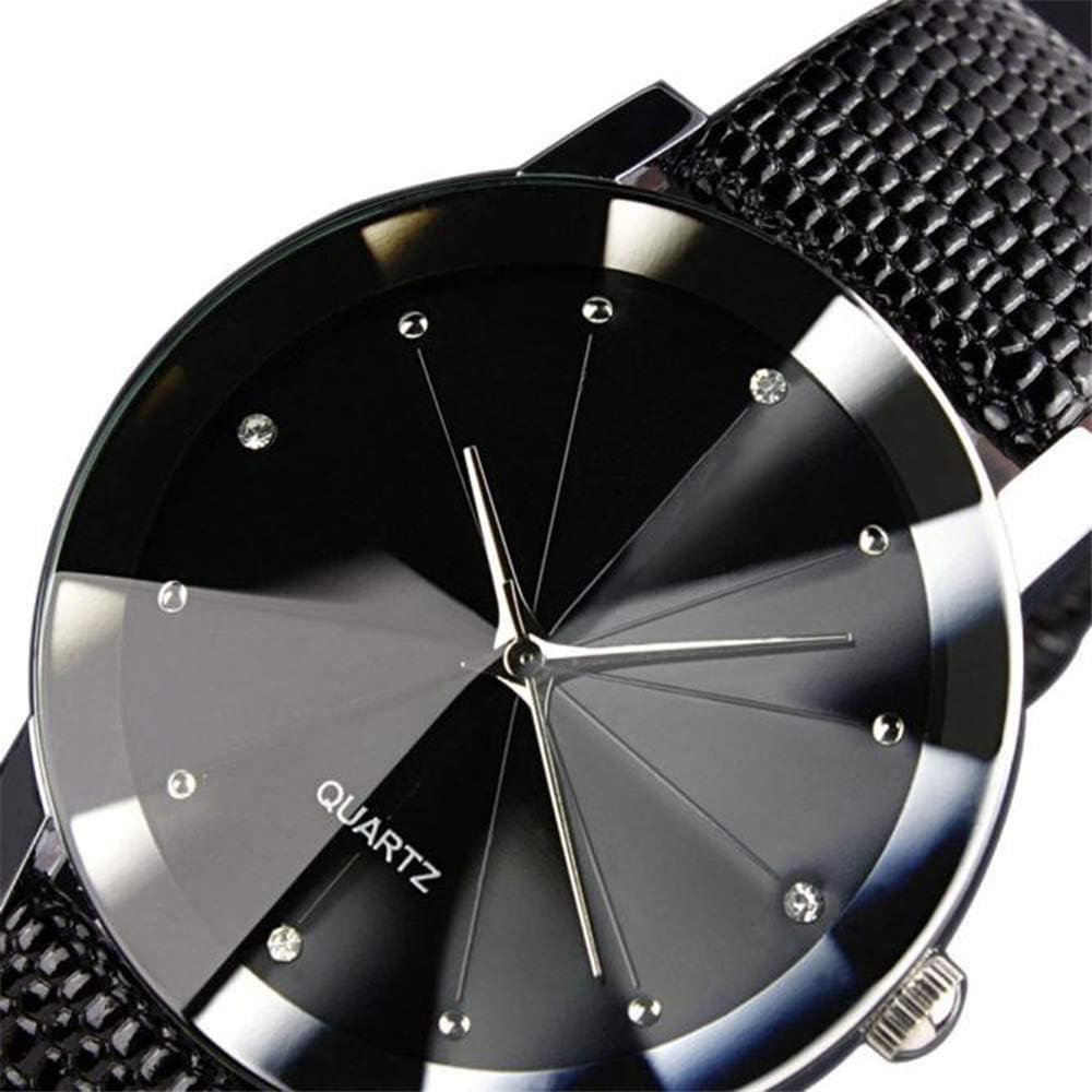 Montres Mode De Quartz Sport Militaire en Acier Inoxydable Cadran Bracelet en Cuir Montre-Bracelet Femmes Montres Bajan KOL Mme Diamant Noir
