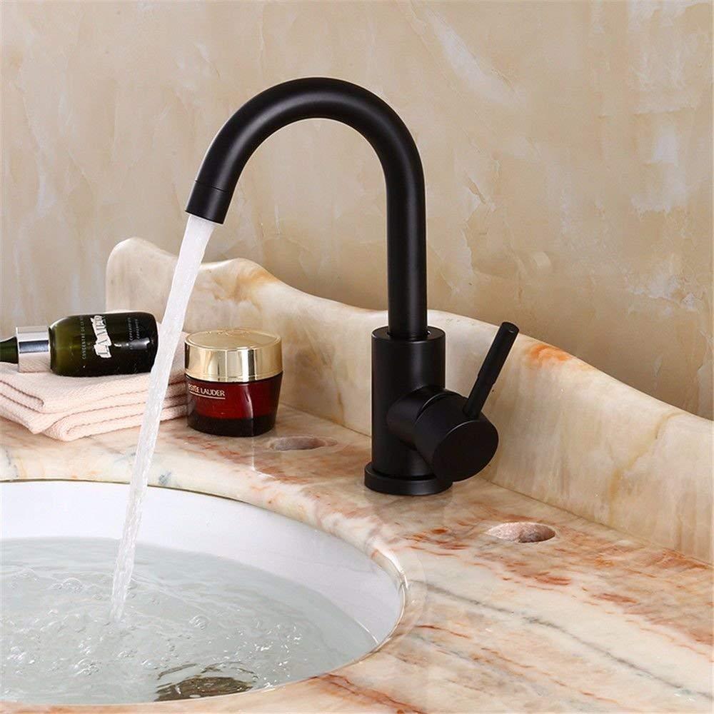 Eeayyygch Küchenarmaturen schwarz Kitchen Sink Waschtischarmatur Waschtischarmatur Waschtischarmatur Waschtischarmatur Warmwasser und kaltem Wasser, 304 Edelstahl-Spülenarmatur 360 Schwenkauslauf