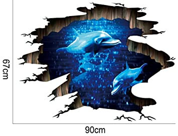 3d Vinyl Fußboden ~ Notdark 3d brücke boden wandaufkleber removable decals vinyl kunst