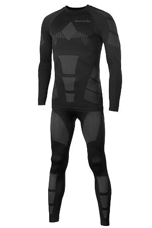 Mount Swiss© - Conjunto de ropa interior térmica Moto, para hombres,