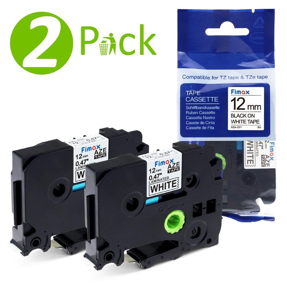 3 Pz. Fimax Tech VE-NP-TZ-231-3 Etichettatura nastro a cassetta 3 Combo Pack 12 mm Nero su bianco