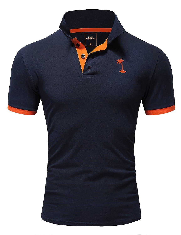 Ombre-Eight Herren Poloshirt Kontrast T-Shirt Kurzarm Polo O-222