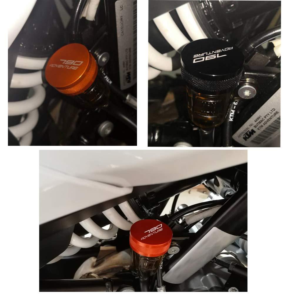 790 Adventure Motorbike CNC Aluminum Side Stand Extender Enlarger Kickstand for K-T-M 790 Adventure 790 Adventure R 790 Adventure S 2019-Black+Orange
