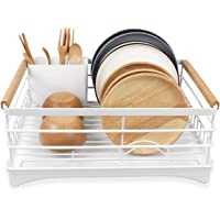 BRIAN & DANY Stainless Steel Dish Drying Rack Over Sink for Kitchen (White)