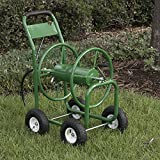 ARKSEN Garden Water Hose Reel Cart 300 FT Outdoor Heavy Duty Yard Planting w/Basket, Green